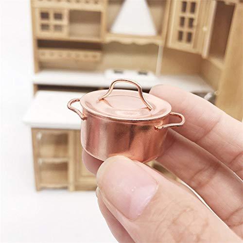 Dapei 1/12 Puppenhaus Möbel Küchengeschirr Dollhouse Miniatur Kochtopf Kinder Weihnachten Spielzeug Geschenk für Jungen und Mädchen
