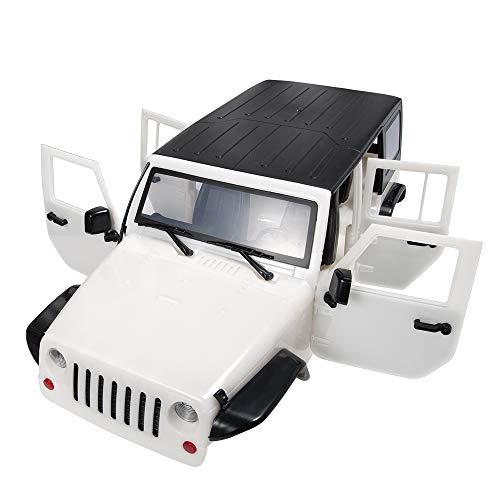 XUNJIAJIE 313mm Radstand RC Car Body Shell Kunststoff für 1/10 RC Car Jeep Wrangler TRX4 Axial SCX10-II 90046/90047 (Weiß) (Rc-car-shell)