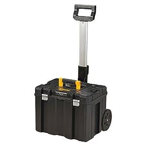 Stanley FatMax Mobile Werkzeugbox / Werkzeugkoffer TSTAK (zum Aufbewahren und Transportieren, Teleskophandgriff, Komfortgriff, Metallschließen, Ösen für Vorhängeschloss, Etikettenhalter) FMST1-75753