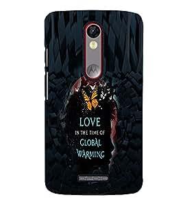 PrintVisa Romantic Love Global warming 3D Hard Polycarbonate Designer Back Case Cover for Motorola Moto X Force