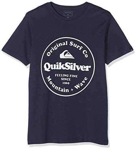 Quiksilver Secret Ingredient T Shirt Garçon, Blue Nights, FR : L (Taille Fabricant : L14)