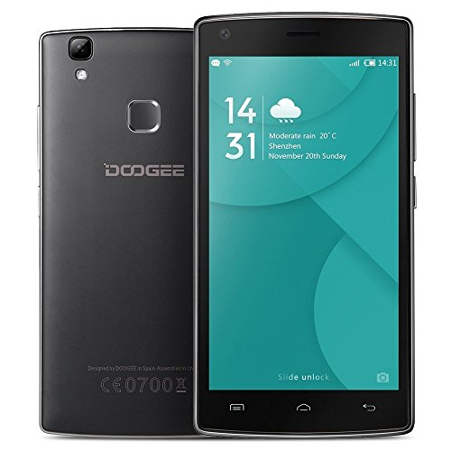 DOOGEE X5 MAX Smartphone 5.0'' HD IPS Android 6.0 Octa Core 1.3Ghz 1GB RAM 8GB ROM Dual SIM GPS WiFi Cellulare, Nero