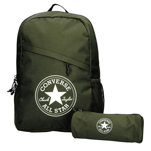 Converse Unisex Rucksack Schoolpack XL Set inkl Federtasche Surplus (oliv)