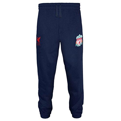 Liverpool FC - Herren Fleece-Jogginghose - Offizielles Merchandise - Geschenk für Fußballfans - Marineblau - 3XL