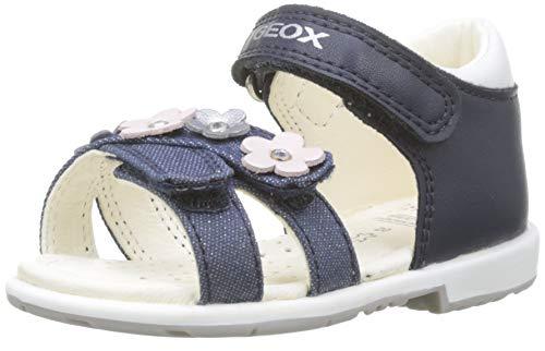Geox Baby Mädchen B VERRED C Sandalen, Blau (Navy C4002), 24 EU