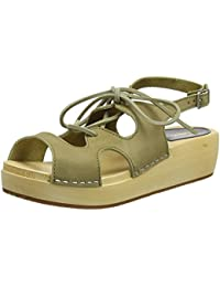 Swedish Hasbeens Lace Up Sandal, Zuecos Para Mujer
