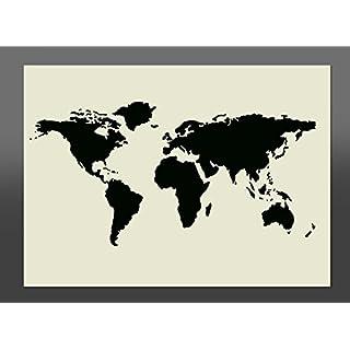 World Map Mylar Stencil A2 594 x 420mm wall furniture art