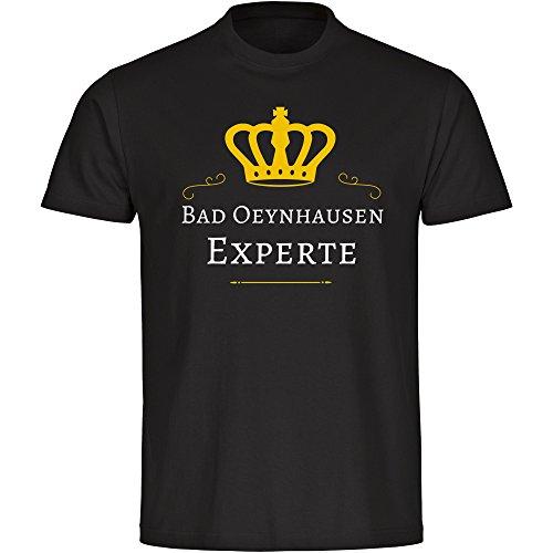 Multifanshop T-Shirt Bad Oeynhausen Experte schwarz Herren Gr. S bis 5XL, Größe:XXXXL