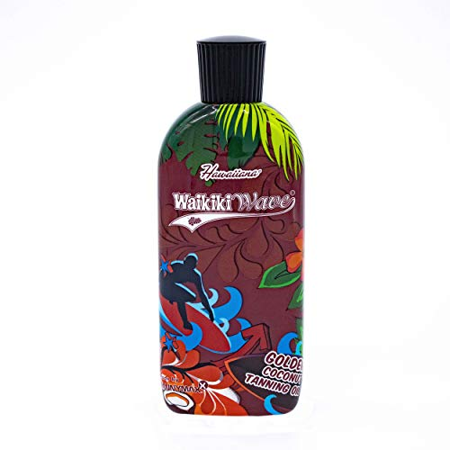 Hawaiiana Waikiki Wave - Golden Coconut Dark Tanning Oil, 1er Pack (1 x 200 ml) - Hawaiian Wave