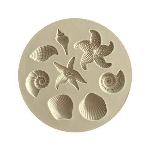 FloralLive 3D Nette Seashell formte Silikon-Schokoladen-Form-DIY Kuchen Gelee Fondant-Backen-Form Küche Zubehör -