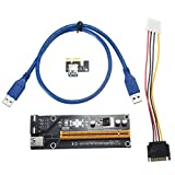 KKY Pci-E 1X to 16X Graphics Extension Cable Extender Riser Card Adapter Mining Dedi