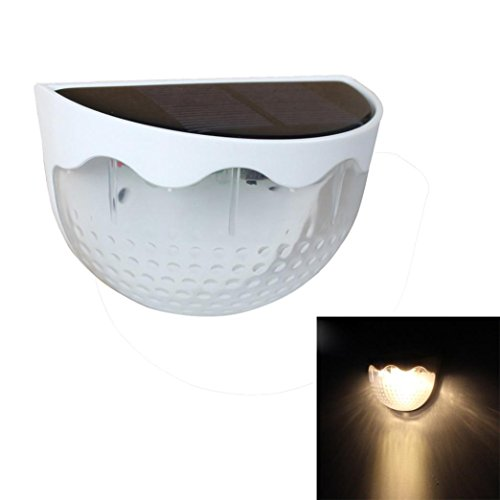 masrin Wasserdicht 6LED Solar Power PIR Motion Sensor Wandleuchte Outdoor Garten Lampe White Warm -
