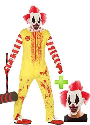Disfraz de Payaso Asesino Burger con mascara