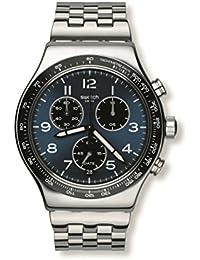 Swatch Herren-Armbanduhr Analog Quarz Edelstahl YVS423G