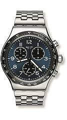 Idea Regalo - Swatch YVS423G - Orologio da polso uomo, Acciaio inossidabile, colore: Argento