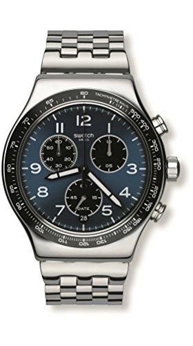 Swatch Herren Analog Quarz Uhr mit Edelstahl Armband YVS423G - Von Uhren Swatch