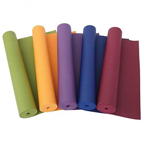 Takestop® tappeto tappetino 173x61cm doppio spessore 6 mm per aerobica fitness yoga palestra stretching allenamento colore casuale