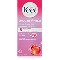 Veet Smooth Real Underarm Wax Strips - Nectarine, 8 Strips