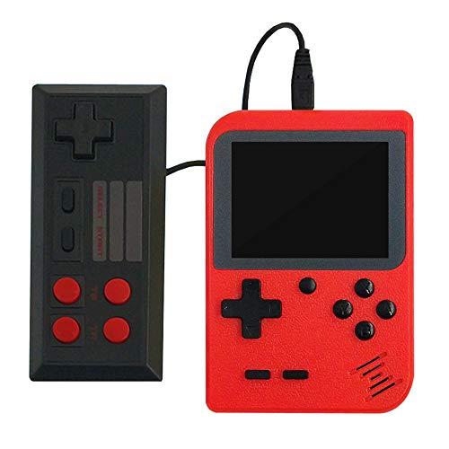 FC Handheld-Spielekonsole Klassisches Spiel, 3-Zoll-Bildschirm-TV-Videospielkonsole und 1 Joystick-Controller für Kinder bis zum Erwachsenengeburtstag,red (Spielen 3 Controller)