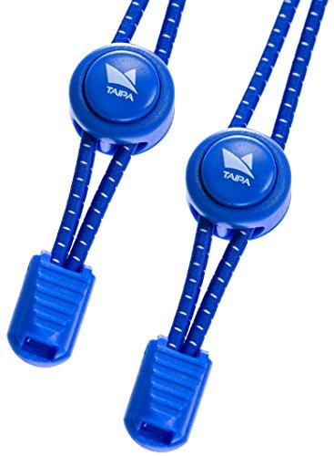 TAIPA Laces - Schnellschnürsystem I Elastische Schnürsenkel mit Schnellverschluss für Kinder und Sportler (blau)