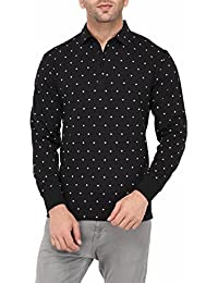 Vivid Bharti Men's Black Printed Full Sleeve HIGH Quality Tshirts