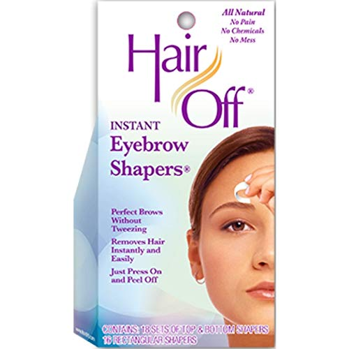 Hair Off Instant Eyebrow Shapers 18 Sets (upper & lower) + 16 sets (between) Cold Wax Strips ( Haarentfernung ) -