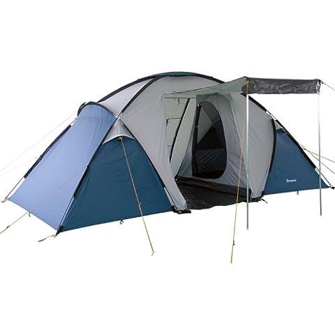 KingCamp Bari 3000mm impermeable resistente al fuego 4 hombre tienda con sala de estar y pabellón para Festival Camping familiar