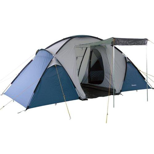 KingCamp Bari 3000mm wasserdicht feuerfest 4-Mann-Zelt mit Wohnzimmer und Baldachin für Camping Familienfest