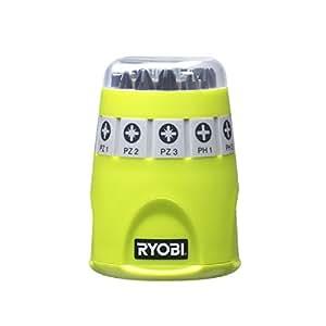 Ryobi 4892210119308 Boîte barillet 10 accessoires de vissage Philips, Multicolore