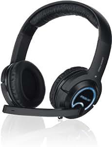 Speedlink Gamer Kopfhörer für PC / Computer und Konsole - Xanthos Gaming Headset  (3m Kabellänge - Stereo-Klang mit intensiven Bässen  - flexibler Bügel und weiche Polsterung) schwarz
