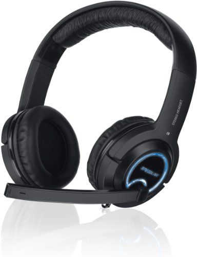 PC, PlayStation 3, Xbox 360 - XANTHOS Stereo Console Gaming Headset, black [Edizione: Germania]