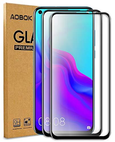 AOBOK [2 Stück, Samsung Galaxy A8s Panzerglas Folie, Samsung Galaxy A8s Displayschutzfolie, (Volle Abdeckung, Blasenfrei, HD Klar) 9H Härte Schutzfolie für Samsung Galaxy A8s Smartphone
