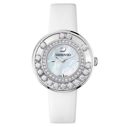 Swarovski 1160308 - orologio da polso donna, pelle, colore: argento