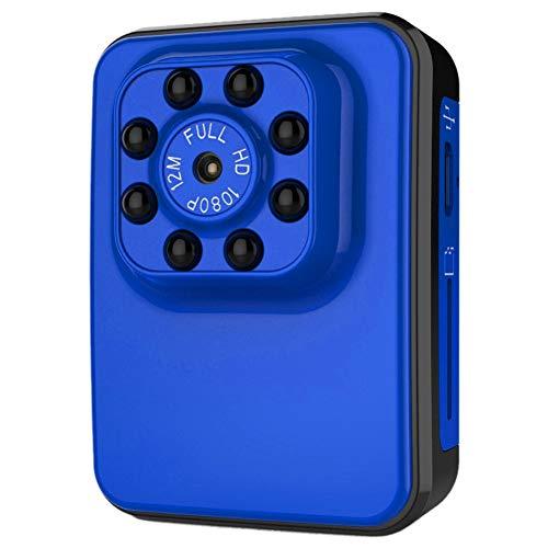 TLMYDD Mini Versteckte Kamera Spion Babysitter HD 1080P Innenhaus Minimum Cam Überwachungskamera Batteriebetriebene Bewegungserkennung Jagdkamera (Color : Blue) (Babysitter Kamera)