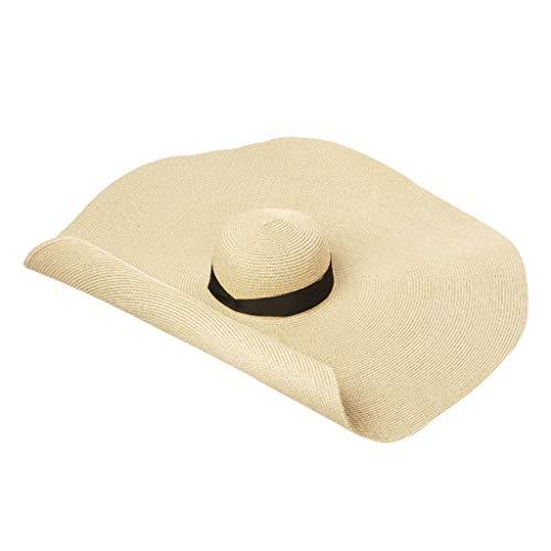 rand Magischer Strohhut mit Übergroße Kante, Übergroßer Hut, Mode UV-Schutz Sonnenhut für Straßenaufnahmen, für die Bühnenmodellierung, Täglich Partyzubehör ()