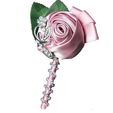 Groom Boutonnière Boutonnières Best Man to Remember Groomsman Accessoires Broche Rose Fleurs pour mariage/fête pour décoration