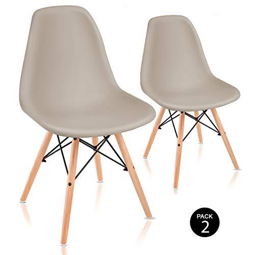Mc Haus Sena Beige X2 Pack de Sillas de Comedor de Diseño...