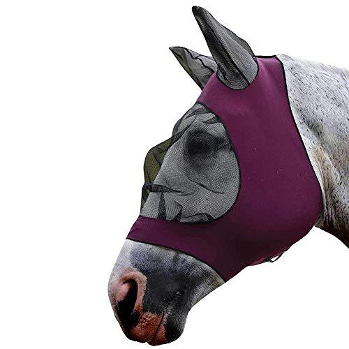 longrep Maschere Protettive per Cavalli Maschera Antimosche Traspirante Confortevole Anti Zanzara Maschera per Cavallo