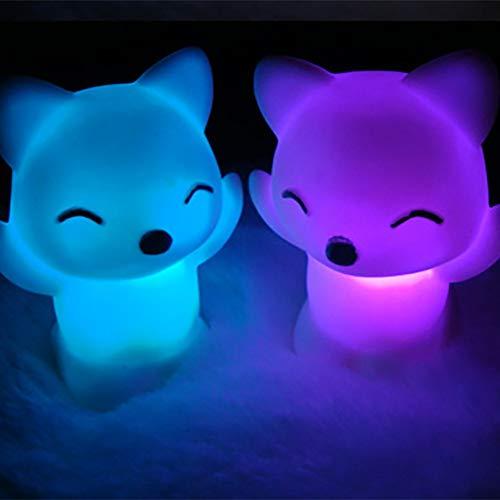 KNMAYE Nachtlicht Licht Heißer Verkauf Led Fox Nachtlicht Hause Schlafzimmer Desktop 7 Farbwechsel Schöne Fox Form Led Nachtlicht Dekoration Nachttischlampe -