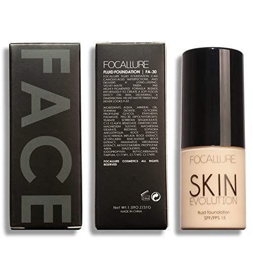 VCBBVG SPF/FPS 15 Face Makeup Base Liquid Foundation Moisturized Concealer Foundation-1# -