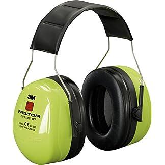 3M PELTOR Optime III 40dB casco protector de oídos – Cascos protectores de oídos (Verde, Espuma, De plástico, Banda para cuello, 40 dB, 35 dB)