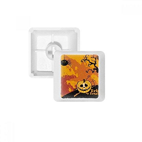 DIYthinker Geist Angst Halloween Kürbis PBT Keycaps für mechanische Tastatur Weiß OEM Keine Markierung drucken