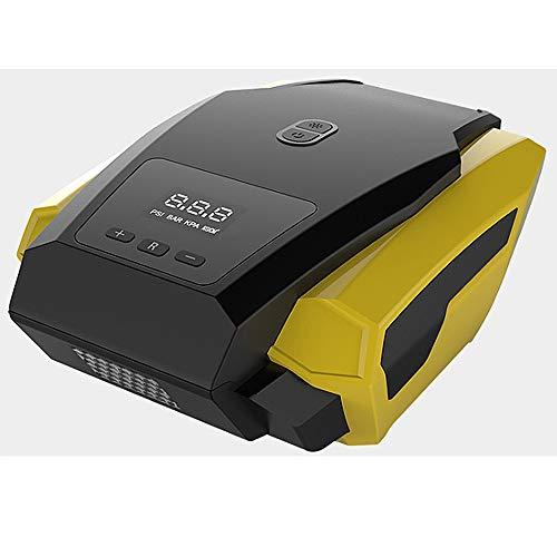 TTBF Reifenfüller Tragbarer Luftkompressor 12V120W Elektrisch mit Digital LCD LED Licht Handluftpumpe Lade Automatischer Stopp Geeignet für Auto - Led-kajak-leuchten