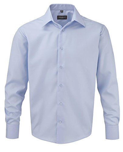 Russell Collection Men's Ultimate Tailored Long Sleeve Shirt Bleu ciel