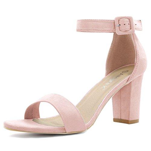 Allegra K Zapatos de Tacón Mujer, Color Rosa, Talla 36.5