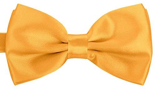 BomGuard Fliege für Herren gelb I Männer Fliege für Hochzeit, Party oder edele Anlässe I Trendy Bow Tie I Herrenfliege