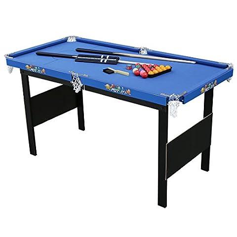Table Multi Jeux 5 En 1 - HLC-Table de Billard Snooker Pool avec Accessoires