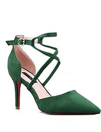 Tacón Mujer Y Para De es Zapatos Medio Amazon xzI64q
