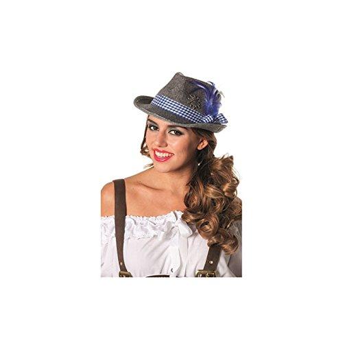 NEU Tiroler Hut mit Edelweiß und kariertem Band