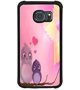 ColourCraft Love Birds Design Back Case Cover for SAMSUNG GALAXY S6